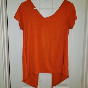 Orange Open Back Layering Shirt